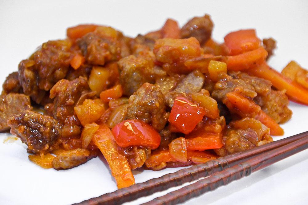 Свинина в кисло сладком соусе пошаговый рецепт с