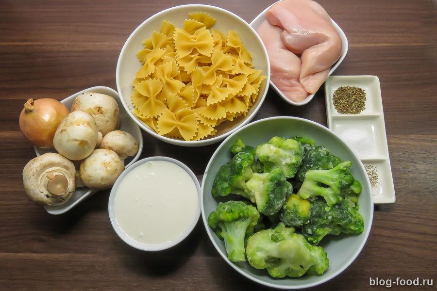 Фарфалле с курицей и грибами в сливочном соусе пошаговый рецепт 37