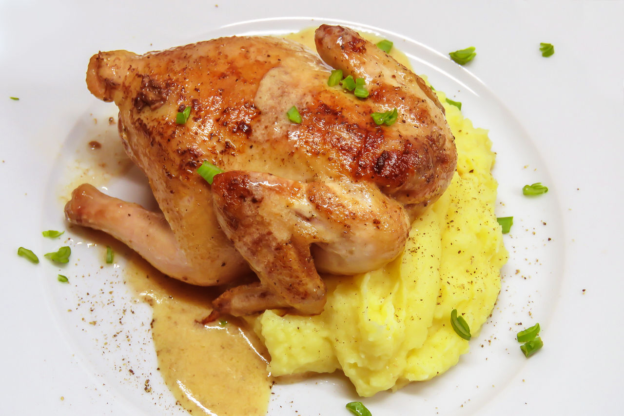 Корнишон цыпленок в духовке рецепт пошагово