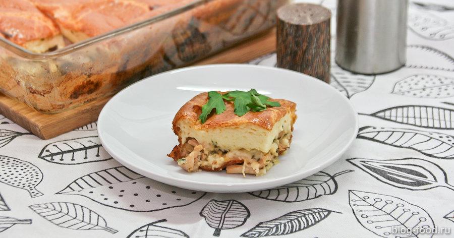 Сметанный пирог с курицей и имбирем или «курник» от Шефмаркета