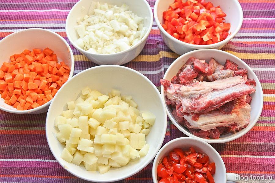 Машхурда с говядиной - рецепт пошаговый с фото