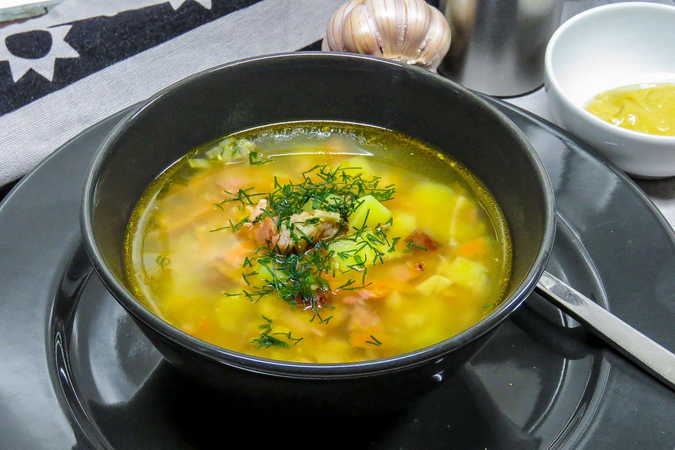 Картинка суп гороховый
