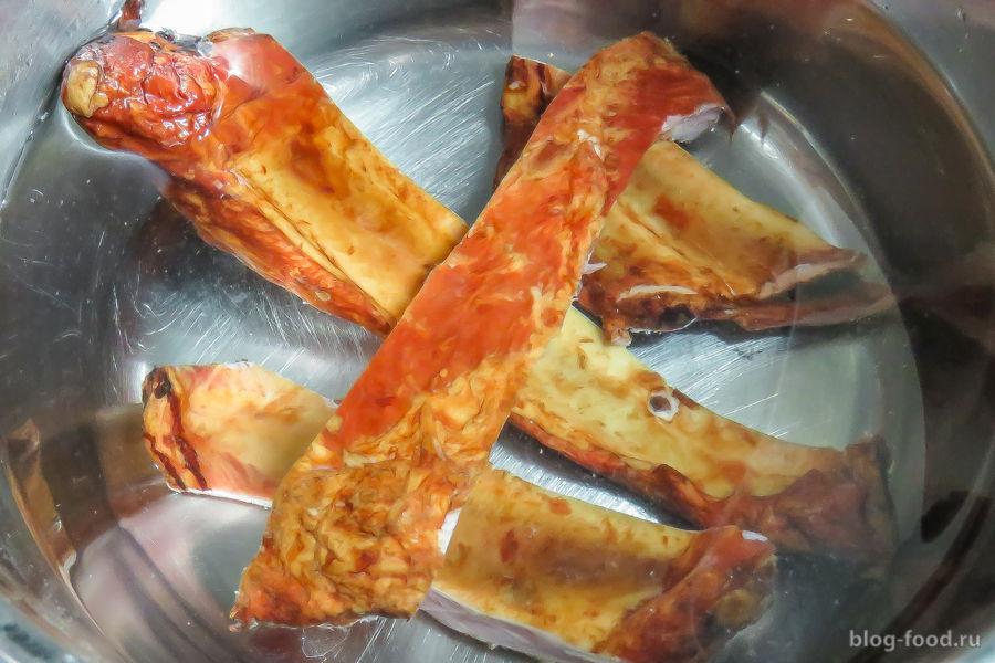 Гороховый суп на свиных ребрышках