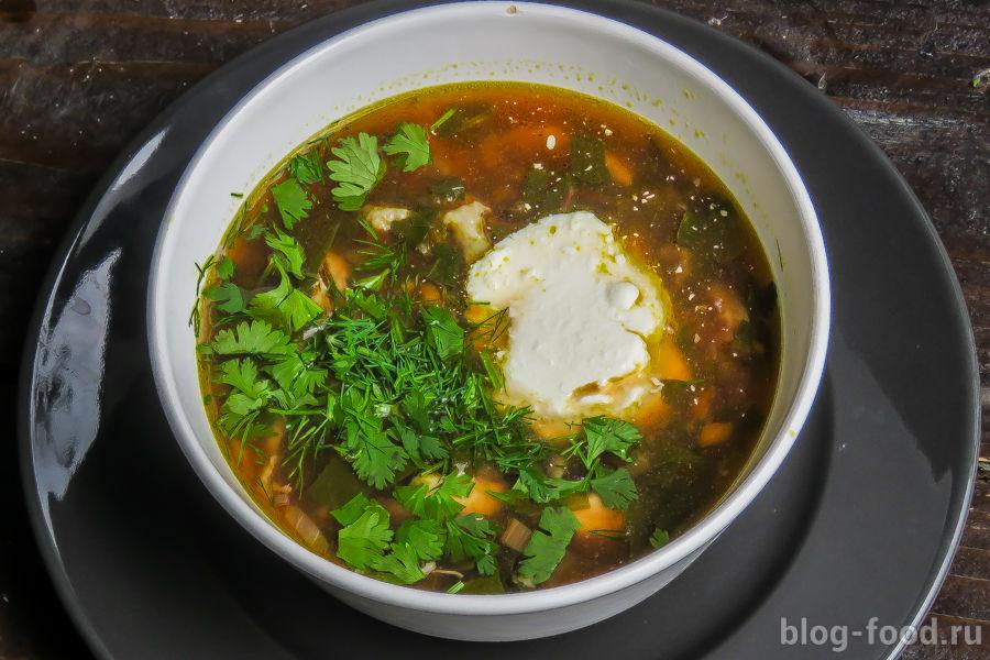 Суп из мангольда