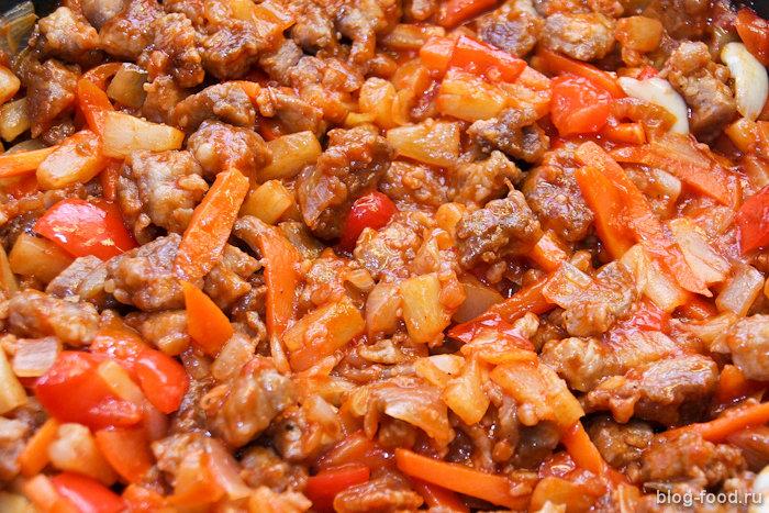 Китайская свинина вкисло-сладком соусе