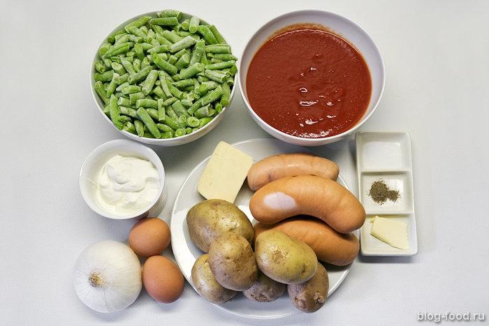 Немецкая овощная запеканка ссардельками