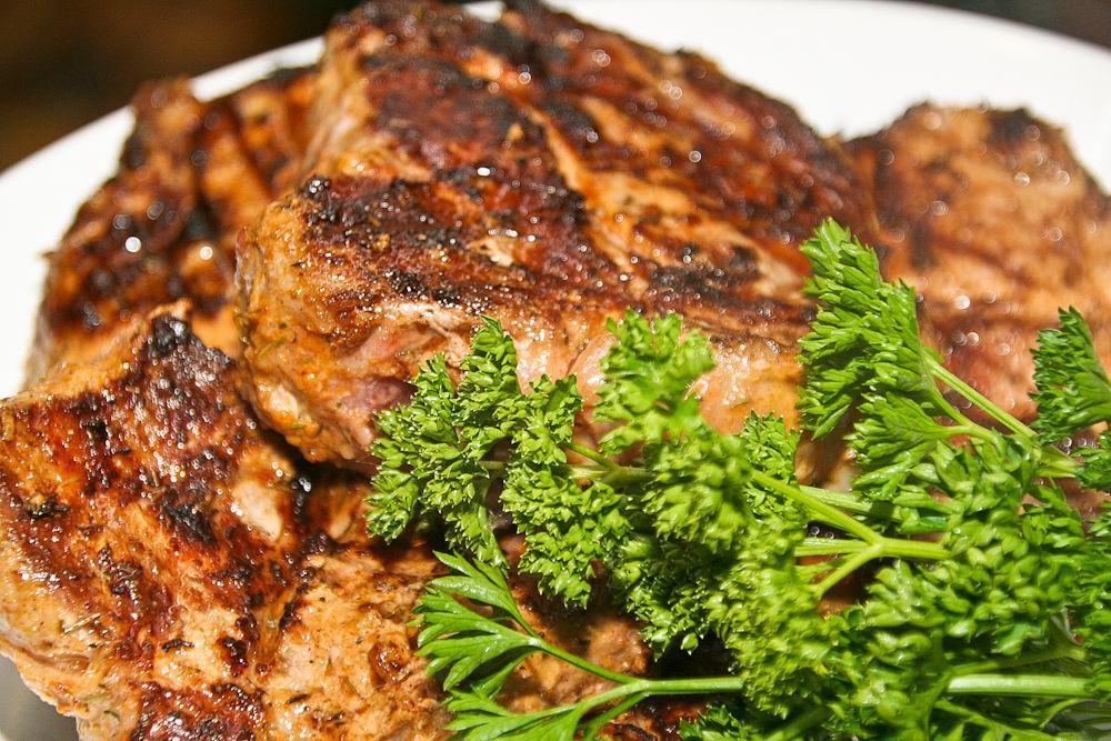Свинина-гриль в горчичном маринаде
