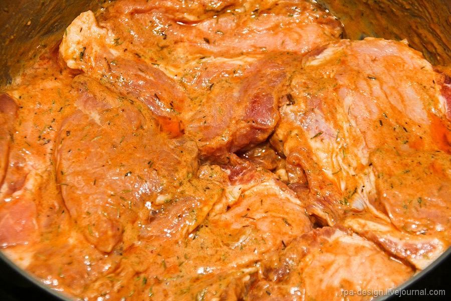 Свинина вгорчичном маринаде