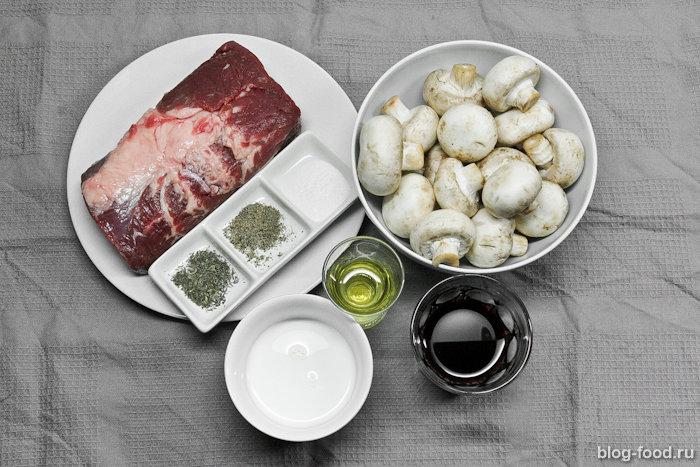 Филе миньон рецепт с грибным соусом