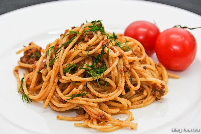 Спагетти под соусом Болоньезе