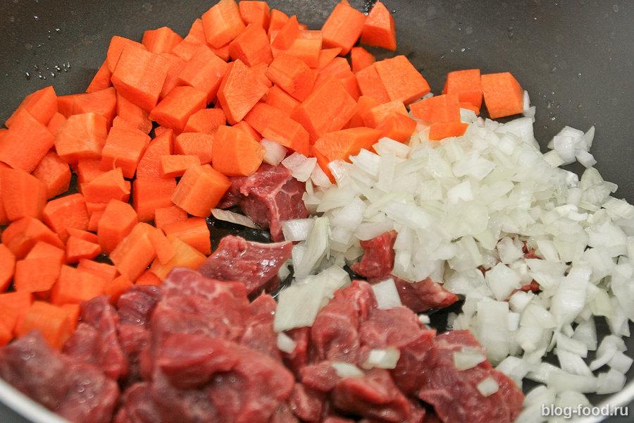 Паприкаш из говядины с рисом