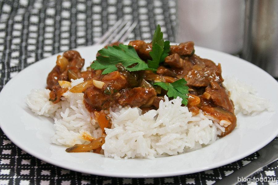 Азу из говядины с рисом
