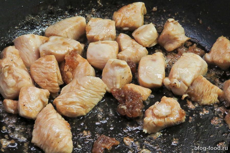Кисло-сладкая курица с брокколи