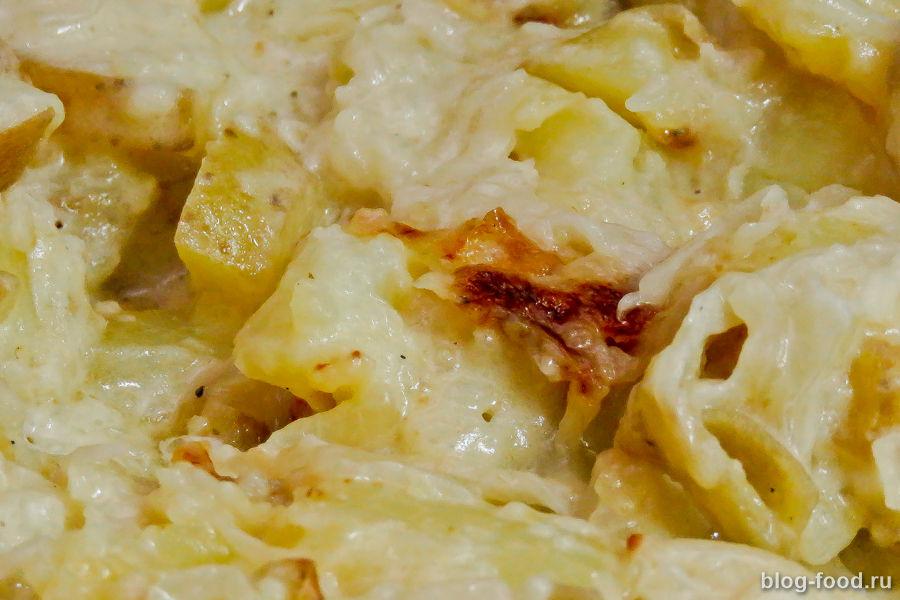 Картошка со сливками и луком