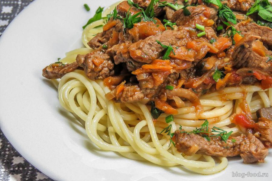 Ленивые спагетти болоньезе