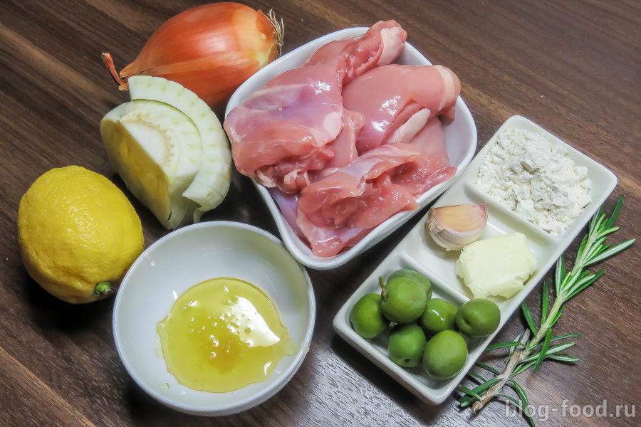 Курица с фенхелем, лимоном и мёдом