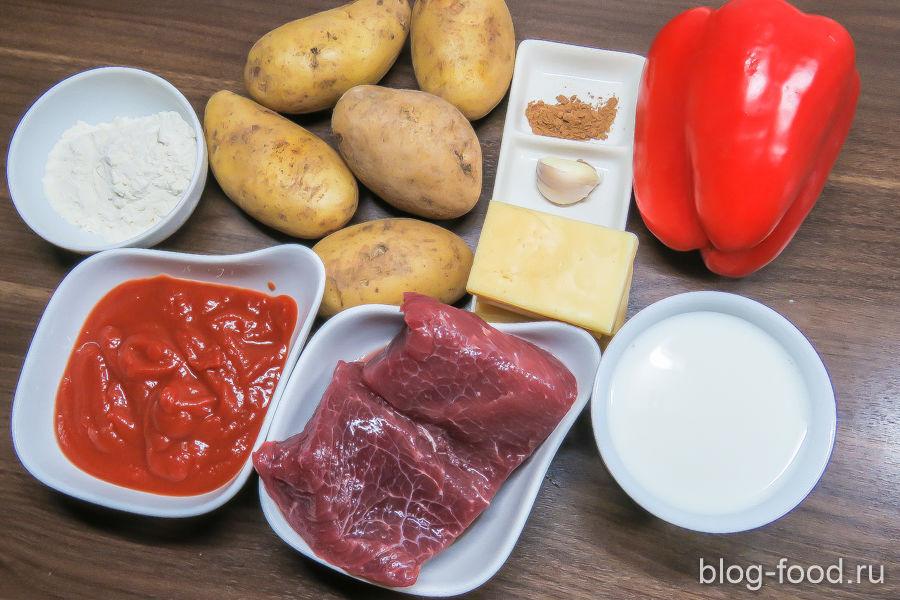 Картофельная запеканка с говядиной