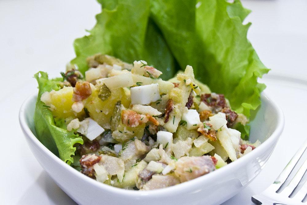Немецкий салат из селёдки
