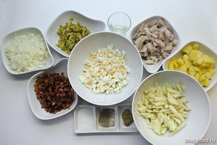 Немецкий салат изсельди